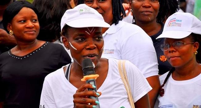 Sandra Idossou, au cours de la 14ème édition de l'Eco-Running